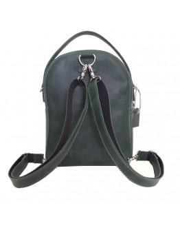 Кожаный женский зеленый рюкзак 67997701W-SGE