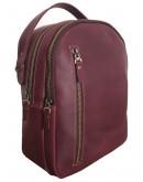 Фотография Кожаный женский бордовый рюкзак 67998801W-SGE