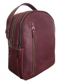 Кожаный женский бордовый рюкзак 67998801W-SGE