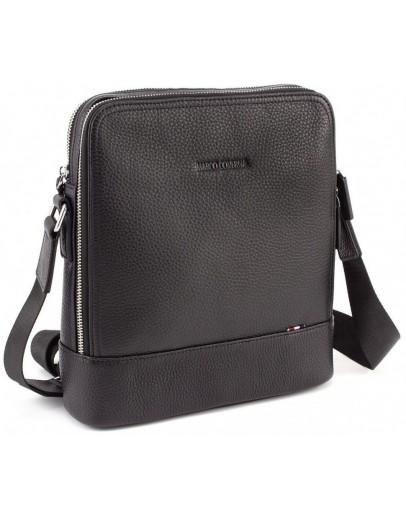 Фотография Черная кожаная мужская сумка на плечо Marco Coverna MC 6952-1 Black