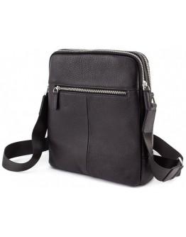 Черная кожаная мужская сумка на плечо Marco Coverna MC 6952-1 Black