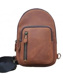 Мужской коричневый кожаный слинг 700021-SGE
