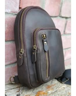 Мужской темно - коричневый кожаный слинг 700024-SGE