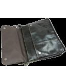 Фотография Тёмно-коричневая мужская кожаная сумка на плечо 7051