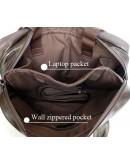Фотография Портфель мужской темно-коричневый из натуральной кожи 7005Q-2