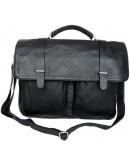 Фотография Кожаный гладкий мужской портфель 77013A-1