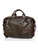 Фотография Мега вместительная качественная сумка-рюкзак из кожи 77014