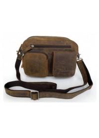 Винтажная брутальная мужская сумка из лошадиной кожи 77015