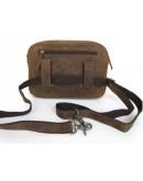 Фотография Винтажная брутальная мужская сумка из лошадиной кожи 77015