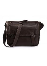Мужская сумка на плечо, коричневая кожаная 7022C-2