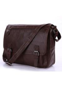 Потрясающая кожаная мужская сумка на плечо 77022LB