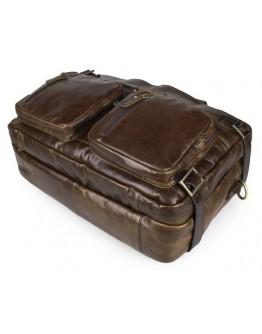 Удобная коричневая сумка-рюкзак на каждый день 77026C
