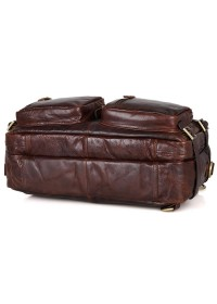 Универсальный кожаный вместительный портфель-рюкзак 77026Q