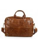 Фотография Рыжая кожаная мужская сумка-рюкзак 77026b1
