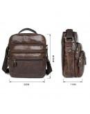 Фотография Практичная повседневная мужская коричневая сумка на плечо 77027