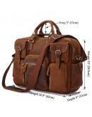 Фотография Безупречная стильная мужская сумка коричневого цвета 77028C1