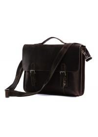 Коричневый мужской портфель из лошадиной кожи 77035R