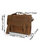 Фотография Модный портфель из винтажной лошадиной кожи 77035b1