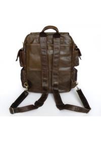 Компактный коричневый мужской стильный рюкзак 77038