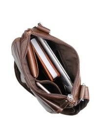 Шикарная кожаная сумка на плечо 77045