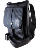 Фотография Черная модная кожаная мужская сумка на плечо, лидер продаж 77045A