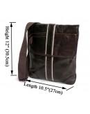 Фотография Добротная мужская кожаная сумка на плечо 77046