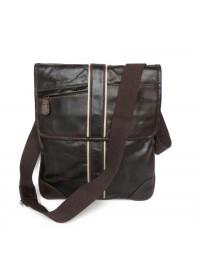 Добротная мужская кожаная сумка на плечо 77046