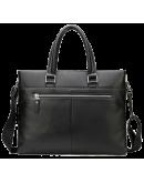 Фотография Кожаный чёрный портфель мужской 7049