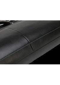Кожаный чёрный портфель мужской 7049