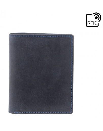 Фотография Синий мужской кошелек Visconti 705 Arrow (Oil Blue)