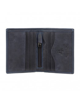 Синий мужской кошелек Visconti 705 Arrow (Oil Blue)