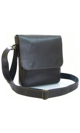 Коричневая сумка на плечо из гладкой кожи 70511-SGE