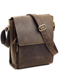 Коричневый удобный кожаный мужской мессенджер 77055B-5