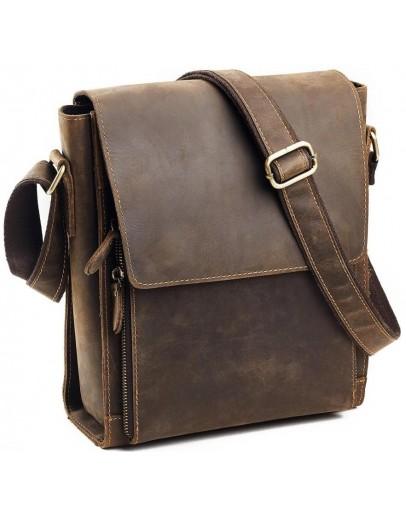 Фотография Коричневый удобный кожаный мужской мессенджер 77055B-5