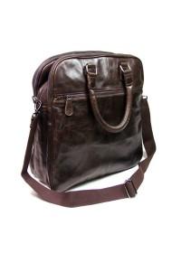 Функциональная мужская кожаная сумка на плечо и в руку 77059