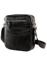 Тёмно-коричневая небольшая сумка на плечо 7063