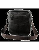 Фотография Тёмно-коричневая небольшая сумка на плечо 7063