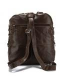 Фотография Повседневный модный кожаный коричневый рюкзак 77065q