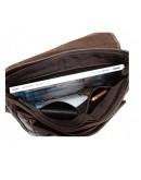 Фотография Вместительная коричневая кожаная сумка на плечо 77070R