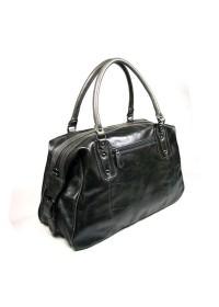 Большая мужская кожаная серая сумка 77071