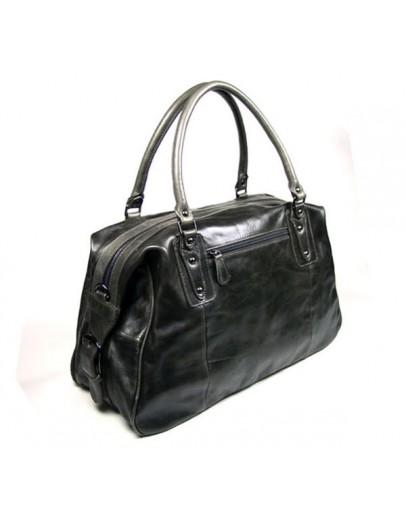 Фотография Большая мужская кожаная серая сумка 77071