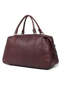 Кожаная большая мужская сумка бордово-коричневого цвета 77071lc