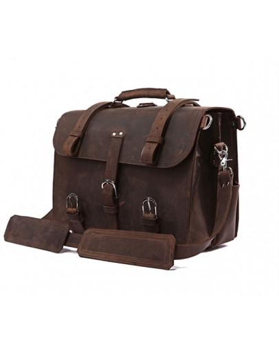 Фотография Большая и очень вместительная сумка из прочной кожи 77072r1