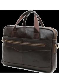 Коричневая сумка из натуральной кожи Cross 7075