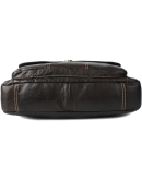 Фотография Кожаная коричневая мужская сумка портфель Cross 7077