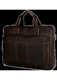 Кожаная коричневая мужская повседневная сумка Cross 7079