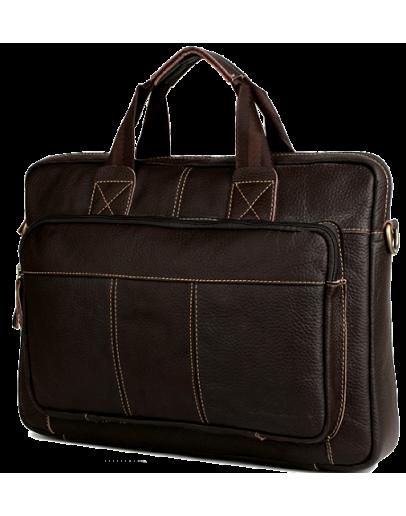 Фотография Кожаная коричневая мужская повседневная сумка Cross 7079