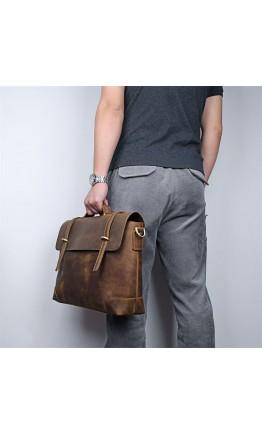 Стильный и прочный винтажный кожаный портфель 77082R