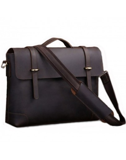 Фотография Винтажный кожаный портфель из телячьей кожи 77082R1