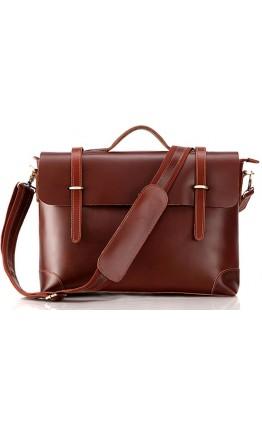 Стильная винтажная мужская сумка из качественной кожи 77082B